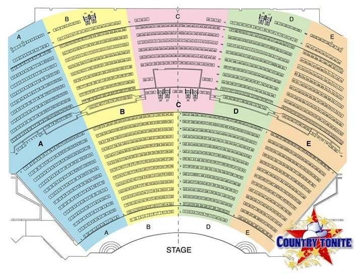 Country Tonite Christmas Show Seat Map